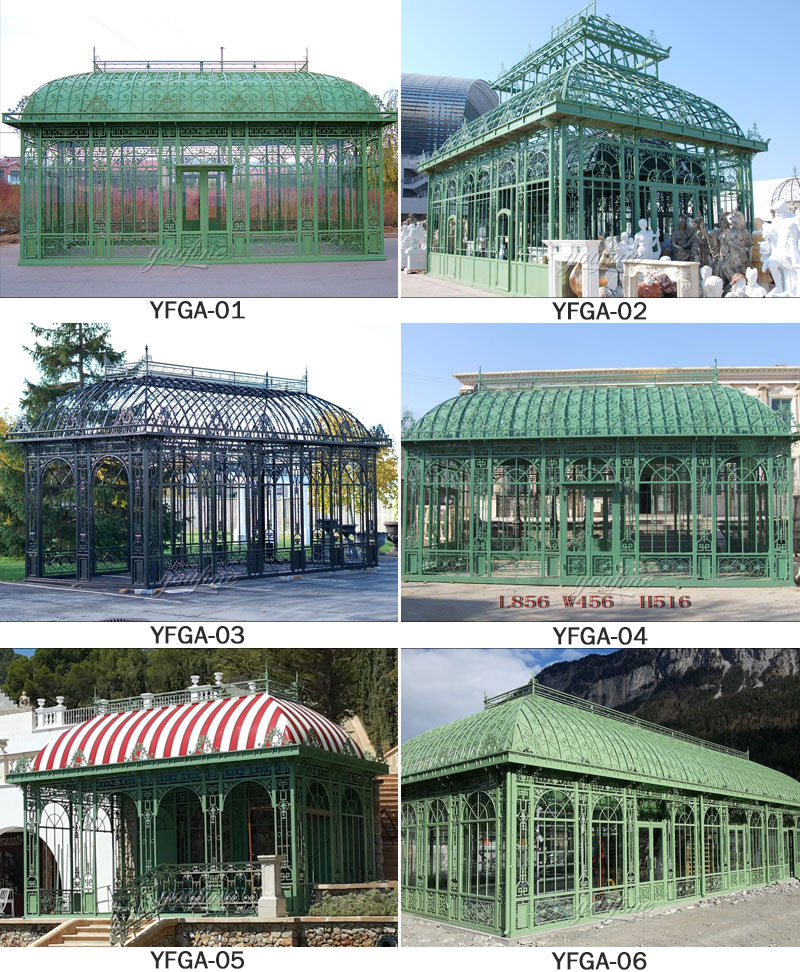 outdoor large metal winter garden greenhouse for sale