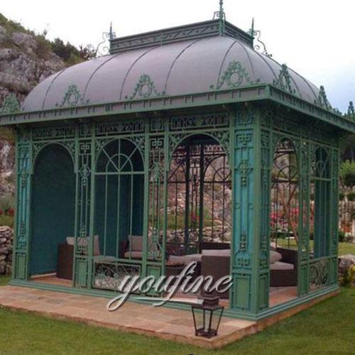Hot selling Large outdoor metal 10x10 gazebo for garden