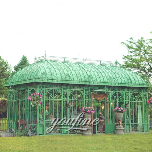 Large outdoor steel wrought iron backyard gazebo for sale