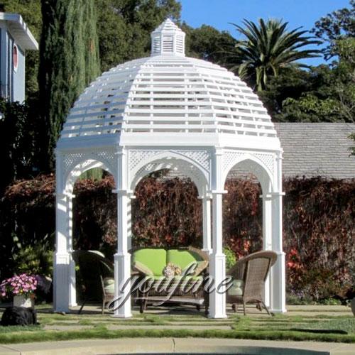 Outdoor round 10x10 metal small garden white gazebo for sale