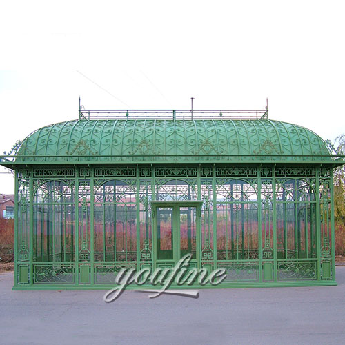 Outdoor large wrought iron screened 12x12gazebo for sale