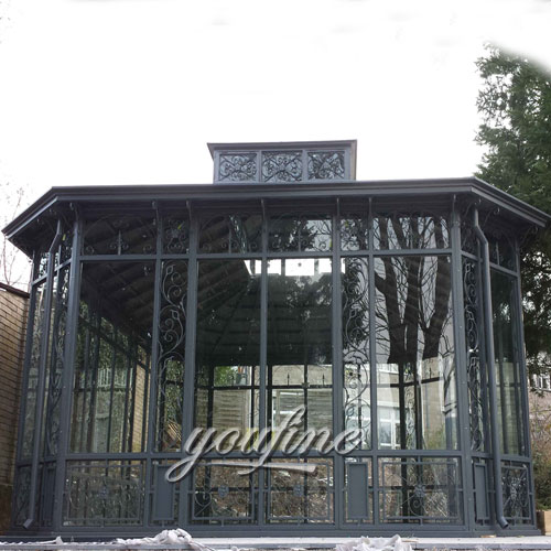 Outdoor large garden decor metal casting iron gazebo with best price