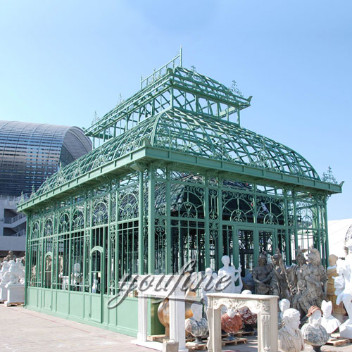 Outdoor large garden decor screened 12x12 wrought iron gazebo with best price