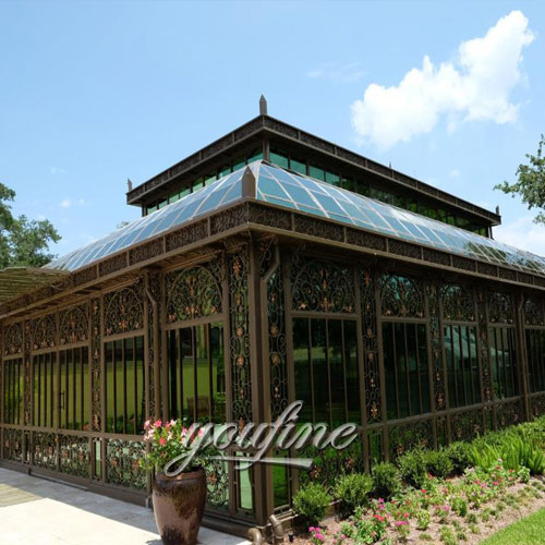 Large Garden Wrought Iron Gazebo For Sale