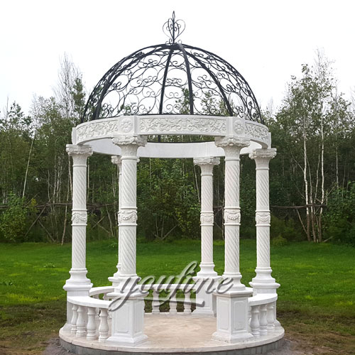 Popular Design Stone Gazebo with High Quality for Garden Decor