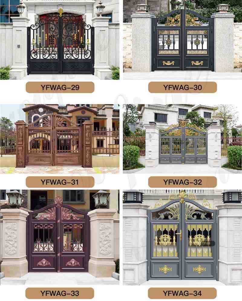 Aluminum-Gate-Door-Garden-Decoration-for