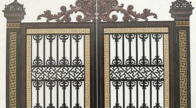 Luxury Double Aluminium Driveway Gate for Home Decor for Sale ALGD-023