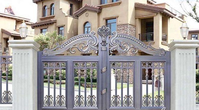 Modern Decorative Double Aluminum Garden Gate for House Decor ALGD-022